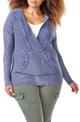 Addition Elle Love And Legend Plus Size Women's Acid Wash Hoodie Sweater