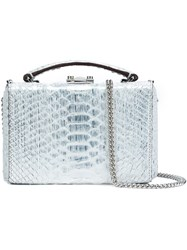Mark Cross Mini Chain Strap Tote White