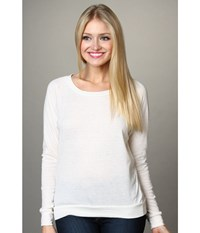 Alternative Apparel Eco Heather Slouchy Pullover Eco Ivory Women's Long Sleeve Pullover White