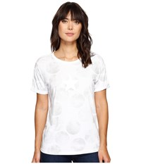 Converse Big Dot Chuck Patch Roll Sleeve Short Sleeve Tee White Women's T Shirt