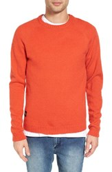 Native Youth Men's Altitude Crewneck Sweater Orange