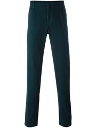 Massimo Alba Houndstooth Trousers Blue