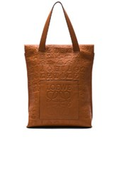 Loewe Signature Shopper Bag In Brown