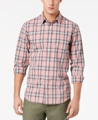 American Rag Men's Plaid Shirt Created For Macy's Washed Pink