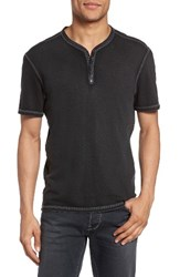 John Varvatos Men's Star Usa Snap Short Sleeve Henley