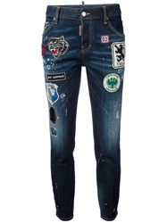 Dsquared2 Cool Girl Patch Jeans Blue