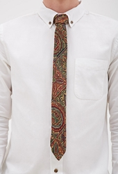 Forever 21 Abstract Tapestry Woven Tie