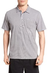Quiksilver Men's Waterman Collection Strolo 6 Pocket Polo Zinc