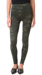 Spanx Seamless Camo Leggings Green Camo