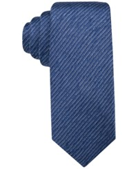 Alfani Men's Thompson Solid Tie Only At Macy's Navy