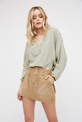Free People Womens High Waist Military Skirt