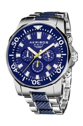 Akribos Xxiv Men's Divers Quartz Chronograph Watch Multi
