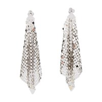 Paco Rabanne Sequin Earrings Silver