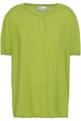 Red Valentino Redvalentino Woman Cashmere And Silk Blend Sweater Lime Green