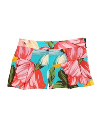Milly Minis Pleated Floral Shorts Blue