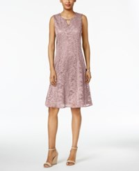 Jm Collection Petite Lace A Line Dress Casabella