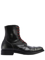 Alexander Hotto Lace Up Vintage Leather Combat Boots