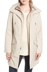 Kenneth Cole New York Raincoat With Quilted Bib Lining Bone