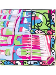 Emilio Pucci Printed Scarf Pink And Purple