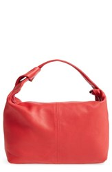 Topshop Premium Leather Jasmine Hobo Bag Red