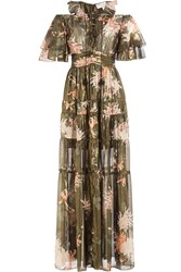 Rachel Zoe Silk Cecily Kiku Print Dress Multicolored