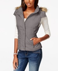 American Rag Faux Fur Trim Puffer Vest Only At Macy's Cinder