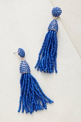Anthropologie Pinata Spring Beaded Drop Earrings Blue