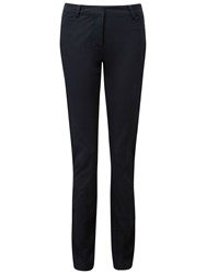 Pure Collection Cotton Stretch Straight Leg Jeans Navy