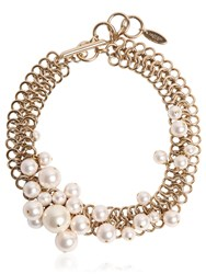 Lanvin Swarovski Pearls Choker Necklace