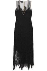 Akris Embroidered Tulle Gown Black