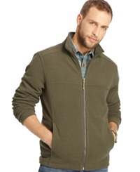 G.H. Bass And Co. Full Zip Mock Neck Arctic Fleece Jacket Forest Night