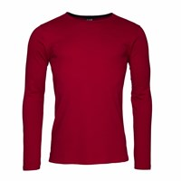 Vaella Clothes Crude T Shirt Long Sleeve Red