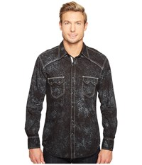 Rock And Roll Cowboy Long Sleeve Snap B2s1260 Black Men's Clothing