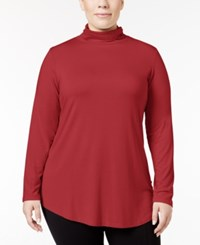 Jm Collection Plus Size Turtleneck Top Only At Macy's New Red Amore