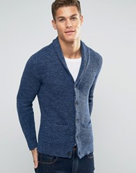 Abercrombie And Fitch Shawl Cardigan Heavy Rib Knit In Navy In Navy Navy