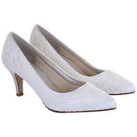Rainbow Club Britt Lace Occasion Courts Ivory