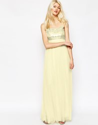 Needle And Thread Strappy Backless Tulle Embellished Maxi Dress Lemon Pink