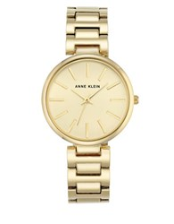 Anne Klein Stainless Steel And Mixed Metal Link Bracelet Watch Ak2786chgb Gold