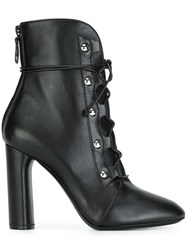 Casadei Lace Up Boots Black