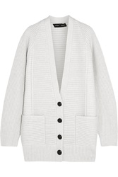 Proenza Schouler Ribbed Wool And Cashmere Blend Cardigan
