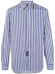 Massimo Piombo Mp Wide Stripe Shirt Men Cotton 42 White