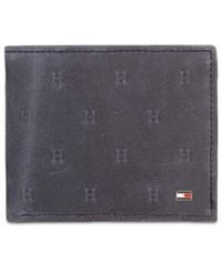 Tommy Hilfiger Hilifiger Vaughn Leather Passcase Wallet Navy