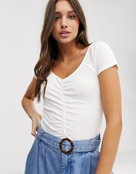 Hollister Tiny Top With Ruching White