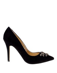 Belle By Badgley Mischka Eleanora Glitter Stiletto Pumps Black