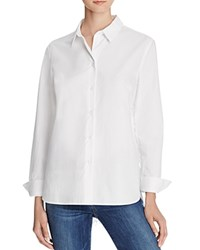 French Connection Belle Lace Back Shirt Winter White