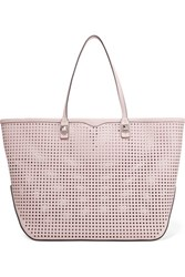 Rebecca Minkoff Studded Perforated Leather Tote Pastel Pink