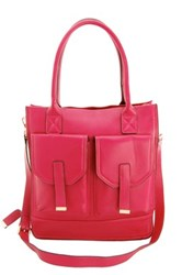 Erica Anenberg Madison Leather Tote Pink