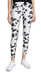 Terez Tall Band Printed Leggings Faux Fur