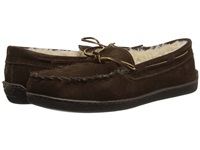 Minnetonka Pile Lined Hardsole Chocolate Suede Men's Shoes Brown