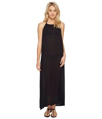 Echo Solid Maxi Beach Dress Black Women's Dress